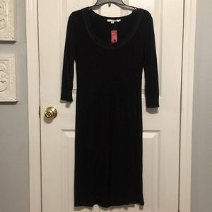 BODEN PEASANT STYLED BLACK DRESS
